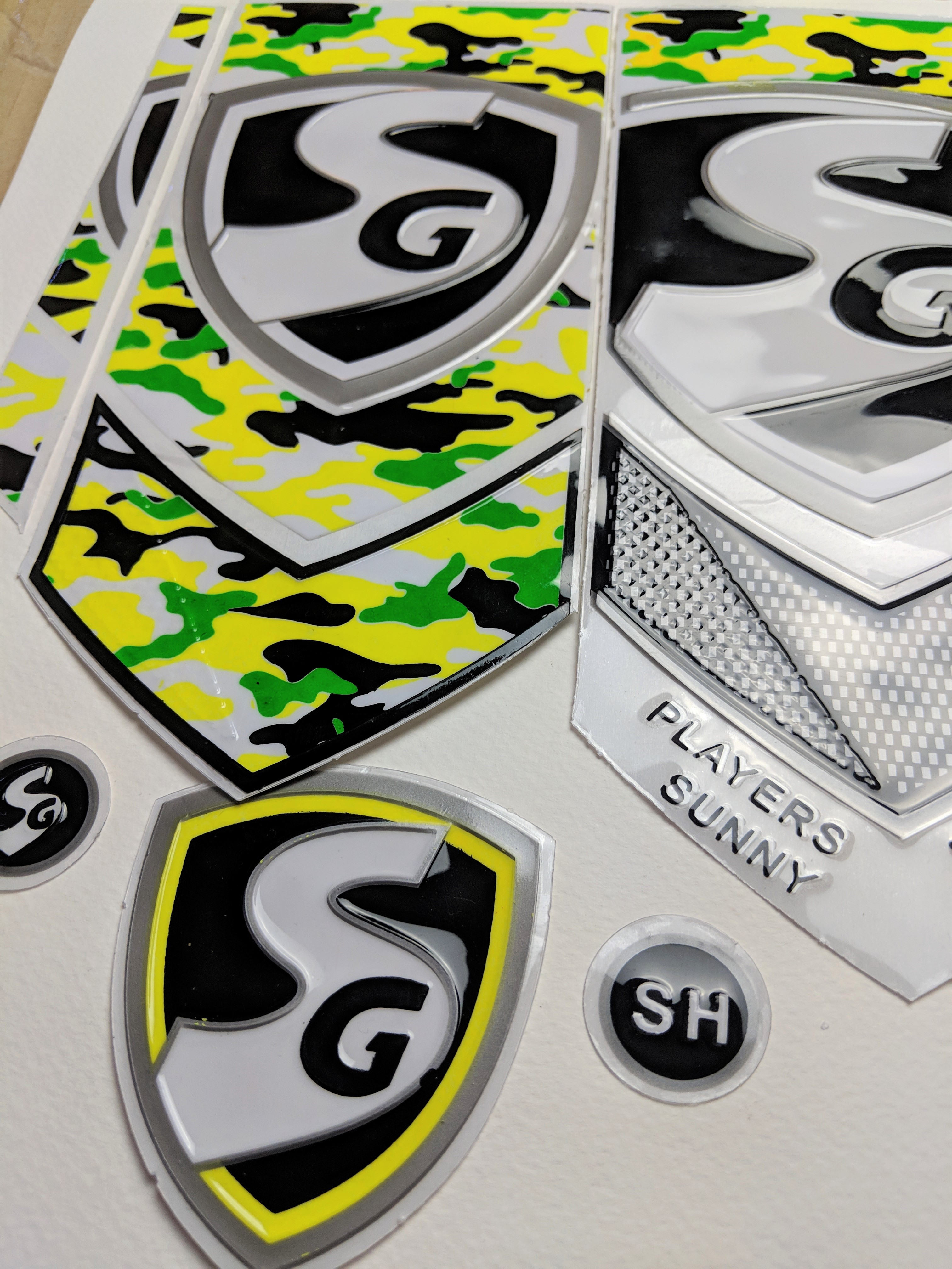 3D//Embossed 3D NEW 2018 SG  EDITION CRICKET BAT STICKERS